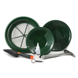 ASR Outdoor 9 Piece Complete Gold Panning Kit | Sifters Classifiers Accessories