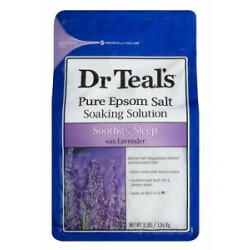 Dr. Teal's Pure Epsom Salt Soaking Solution with Lavender 3 LBS (Pack of 3)