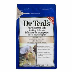 Dr Teal's Pure Epsom Salt Soaking Solution - Coconut Oil | 3lbs | Pack of 2