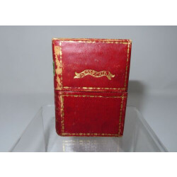 1800's Fine Ladies Box of Various Miniature Antique Items, Designed like a Book