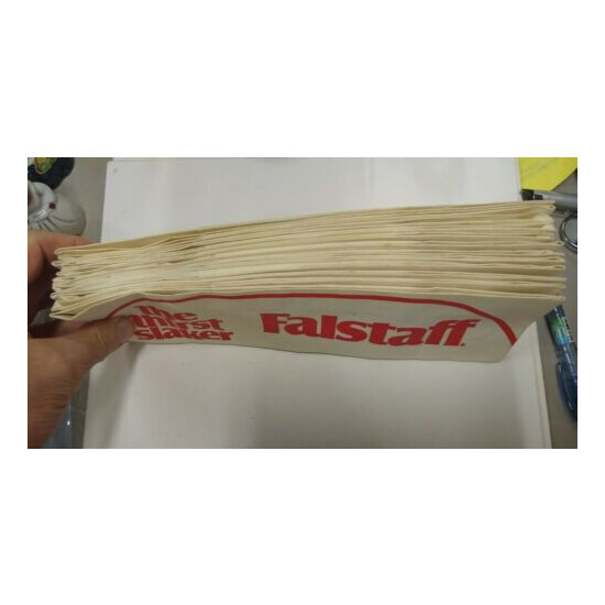 Falstaff Beer The Thirst Slaker Paper Hats Soda Jerk Dated 1968 by Paperlynen