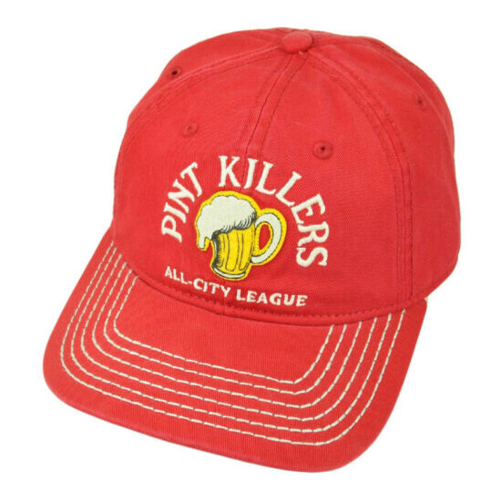Pint Killers All City League Beers Lager Red Garment Wash Slouch Relax Hat Cap