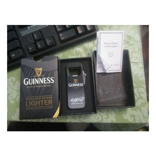 NOS Colibri Guinness signature series Lighter with bottle opener NEW