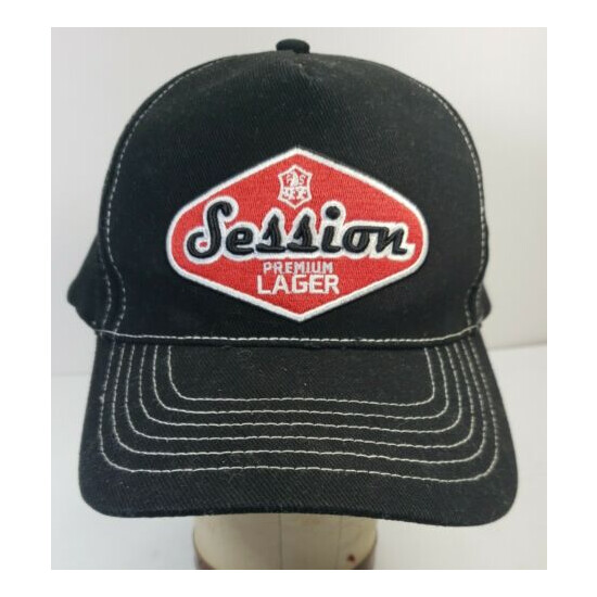 ???? Session Lager Trucker Hat Full Sail Brewery Brewing black red Adjustable