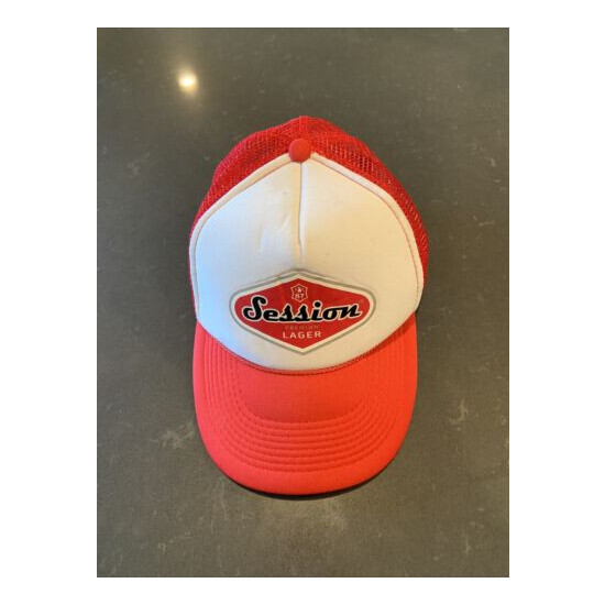 Session Lager Trucker Hat Full Sail Brewery Brewing Mesh Adjustable Puffy