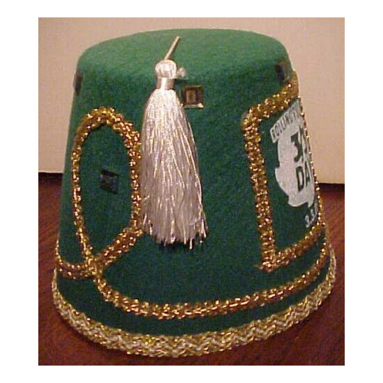 GORGEOUS VINTAGE NEW ROLLING ROCK BEER FELT ST. PATRICK DAY PARTY HAT, FREE SHIP