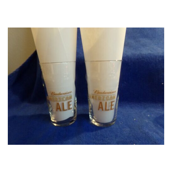 Budweiser American Ale Lot of 2 Beer Glass Glasses