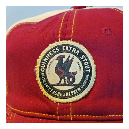 Guinness Official Extra Stout Cockatrice Brand Distressed Look Cap Hat