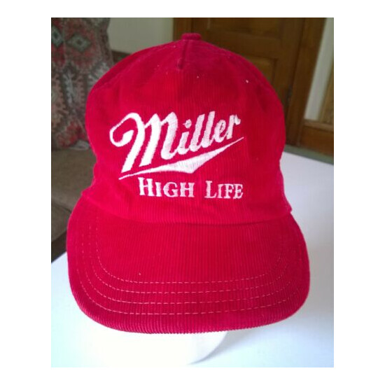 Miller High Life Beer Champagne Of Beers Corduroy Made In USA Trucker Cap Hat