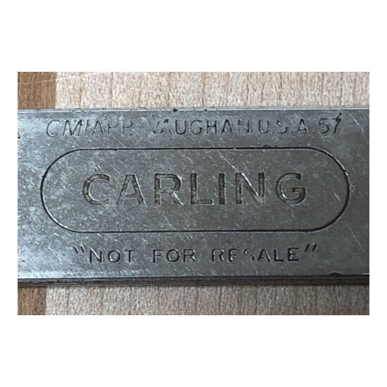 """Vintage Beer Bottle Can Opener CARLING """"Not For Resale"""" CMIAPP - Vaughan USA A57"""
