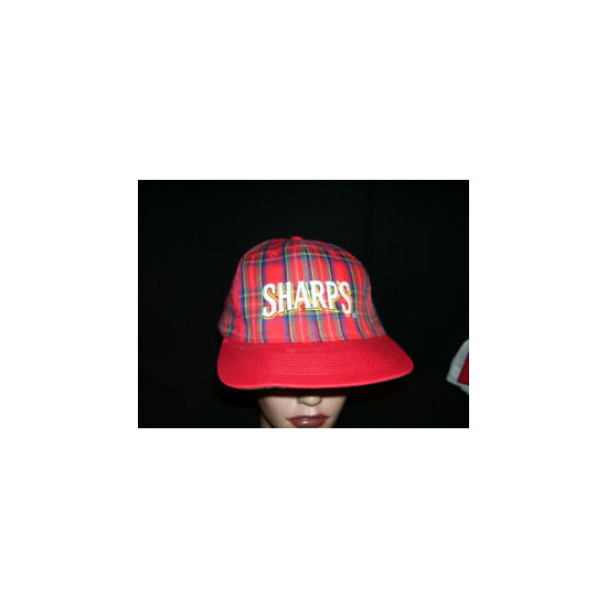 VTG Sharp's NA Beer by Miller Brewery Plaid Embroidered Snapback Hat/Cap