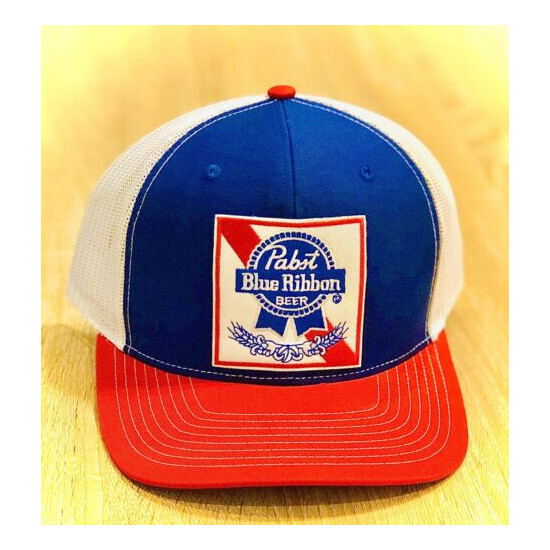 PBR Hat Pabst Blue Ribbon Beer Embroidered Richardson Patch Cap American Mesh ????