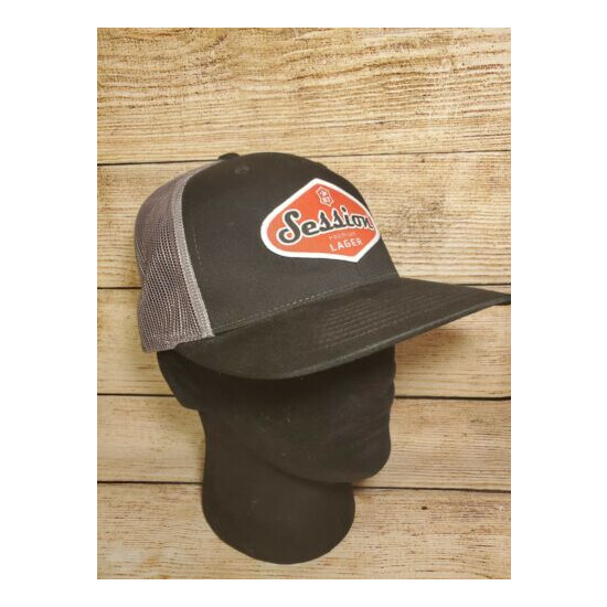 Session Lager Patch Trucker Hat Full Sail Brewery Brewing Mesh Adjustable Black