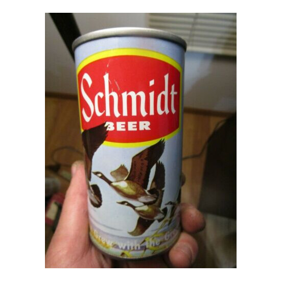 Minty Schmidt Yellow Stripe Scene Goose Cont Can Co 12 Oz Beer Can