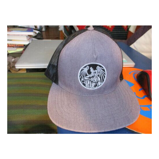 NWOT STONE BREWING Embroidered Logo Gray Mesh Trucker Snapback Hat OSFA Beer
