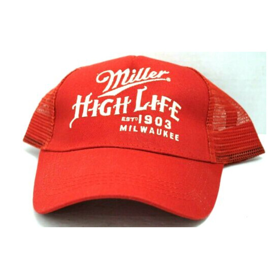 Miller High Life One Size Fits All Ball Cap New Red Color Miller's Ball Cap