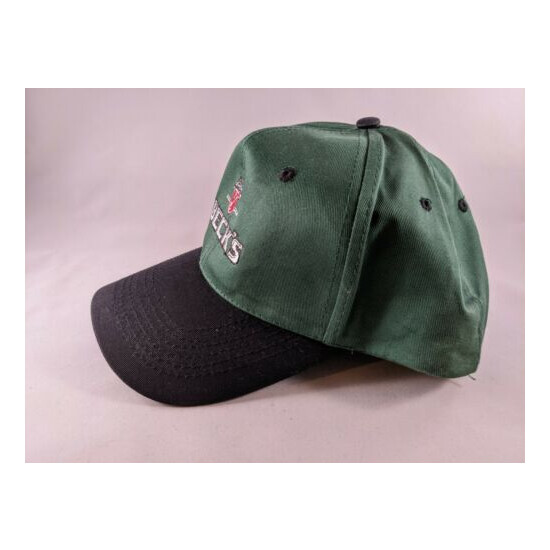 Beck's Beer Embroidered Baseball Golf Hat Cap Green hat with Black Brim New