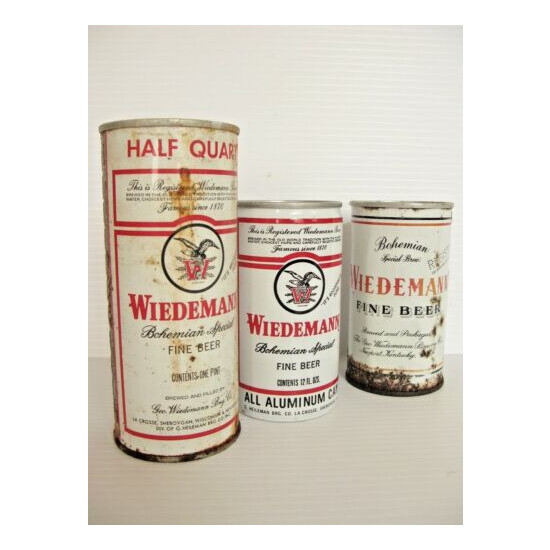 Weidemann Vintage Beer Can Collection Lot of 3