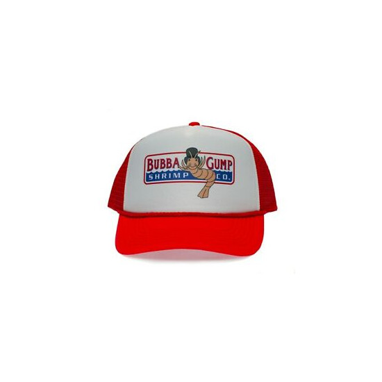 Bubba Gump Shrimp Co Printed Truckers hat cap Forest Gump Red/White