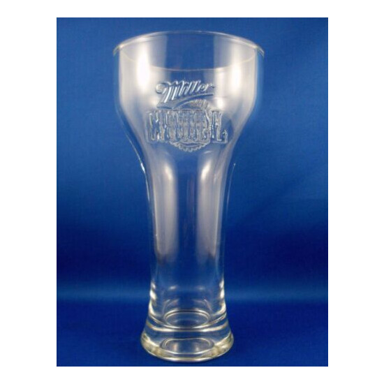 CLEARANCE!! USA MILLER CHILL Pint Beer Glass EMBOSSED THUNDERBIRD Man Cave Bar