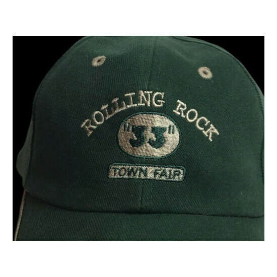 """Rolling Rock Beer """"33"""" Town Fair Hat Adult Adjustable OSFA Hard To Find"""