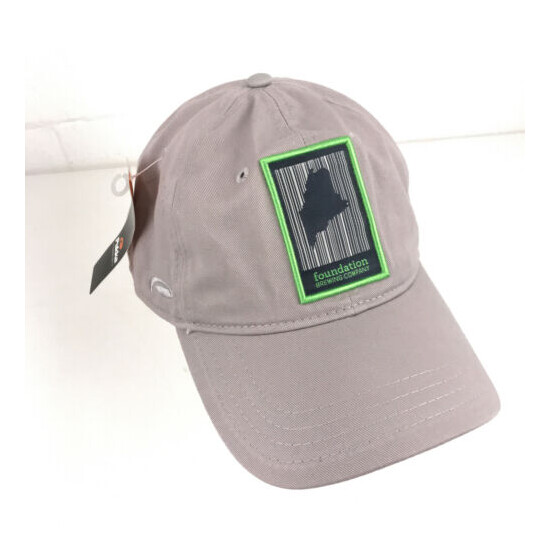 Foundation Brewing Company hat dad cap Maine beer patch hat NWT hbx55