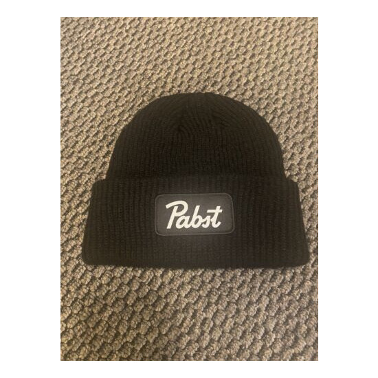 Pabst Beer Beanie by Space Craft, PBR Black Knit Hat