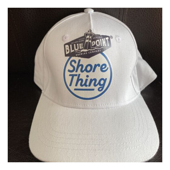 BLUE POINT BREWING CO SHORE THING Hat White Brewery Beer White Patchogue NY