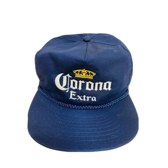 NOS VTG Corona Extra StrapBack Rope Hat Cap Beer Alcohol NISSIN Embroidered