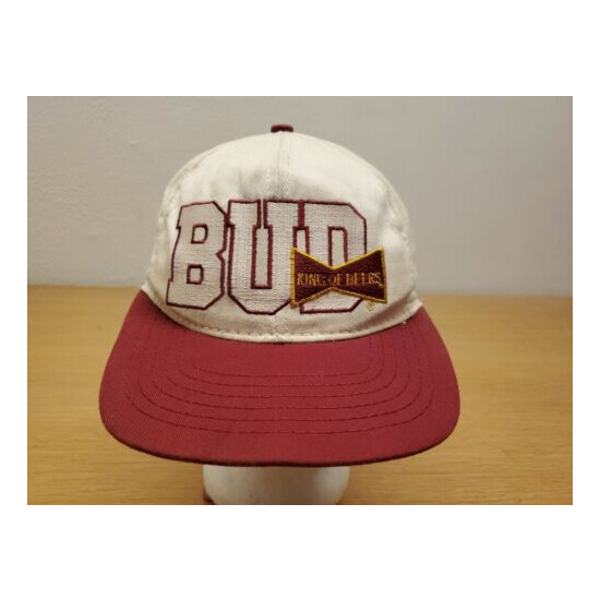 Vintage Bud Budweiser King Of Beers Snapback Hat Cap One Size Fits All