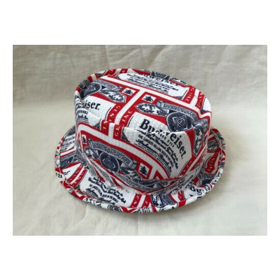 Vintage Budweiser Beer Bud Light Bucket Hat Cap All Over Print Boonie Vento USA