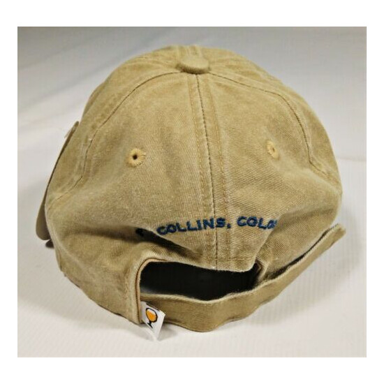 New Belgium Brewing Company Cap Hat Embroidered Fort Collins CO Beer Ouray Tan