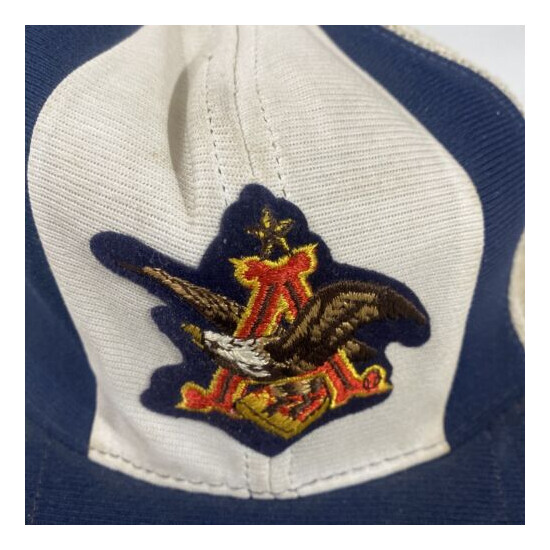 vintage anheuser busch Mesh Snapback Trucker Hat See Pictures USA