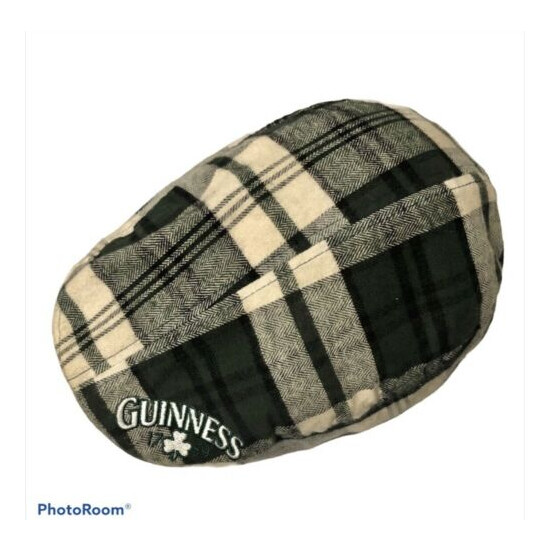 Vintage Guinness Beer Irish Hat Cap One Size Green Plaid Flannel