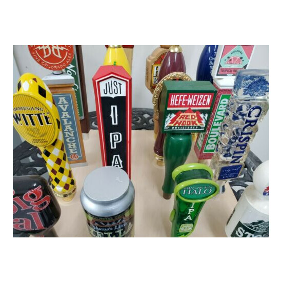 16 Beer Taps with display base