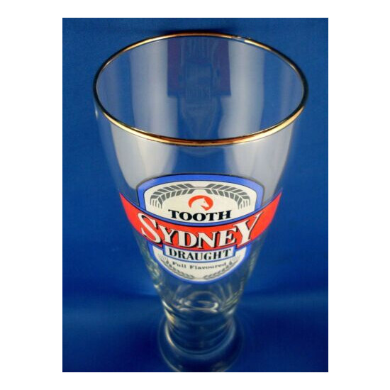 RARE Vintage TOOTH SYDNEY DRAUGHT BEER 700mls Beer Glass Man Cave Collection VG