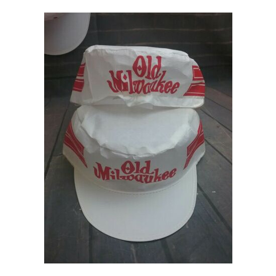 Lot of 4 Vintage Rare Old Milwaukee Beer Paper Party Baseball Caps