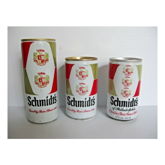 Schmidts Beer Can Collection Pull Tops Lot of 3