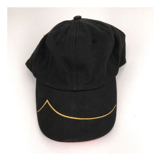 Bacardi rum hat dad cap black and red with yellow line hbx55