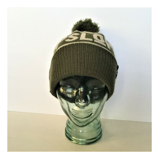 Upslope Brewing Company Olive Green Beanie Stocking Hat Cap -- One Size