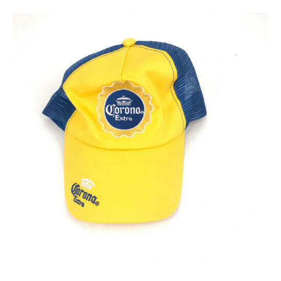 Corona Extra trucker hat cap yellow blue new without tags hbx50