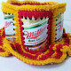 Washington Redskins Color Themed Crochet Knit Hat With Miller High Life Cans
